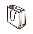 Shopping paper bag symbol vector image vector image