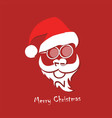 stylized image santa claus vector image vector image