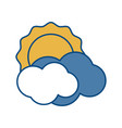 sun and clouds icon vector image vector image