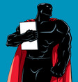 superhero holding book silhouette vector image vector image