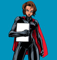 superheroine holding book no mask vector image vector image