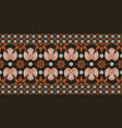 traditional batik pattern vector image vector image