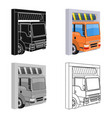 truck entrance to station single icon in vector image vector image