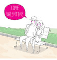 valentine sitting in the park vector image
