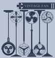 Vintage fan II vector image vector image