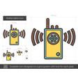 walkie talkie line icon vector image vector image