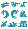 water design elements sea wave icon ocean symbol vector image