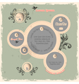 Web design bubbles in vintage style vector image vector image
