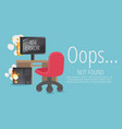website 404 page creative concept the page you vector image vector image