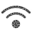 wi-fi collage of squares and circles vector image vector image