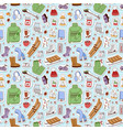 winter icons pattern vector image