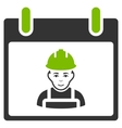 Worker Calendar Day Flat Icon vector image