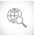 World scan black icon vector image vector image