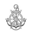 nautical steering wheel and vector image