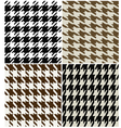 fashion abstract hounds tooth pattern vector image