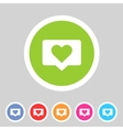 like counter notification flat icon sign set vector image