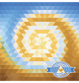 background with triangles vortex vector image