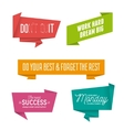 Abstract geometric origami speech bubbles set with vector image