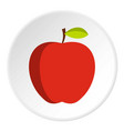 apple icon circle vector image vector image