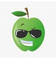 Apple shape cartoon vector image