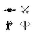 archer simple related icons vector image vector image