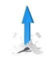 arrow growth concept vector image vector image