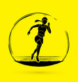 athlete runner a woman runner running graphic vector image vector image