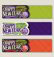 banners for new year vector image vector image
