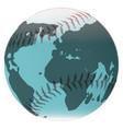 baseball and globe vector image vector image