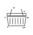 basket icon design vector image vector image