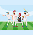 basseball team player with professional uniform vector image vector image