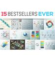 big bundle of 15 modern infographic design vector image vector image