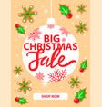 big christmas sale and shop now web page vector image