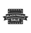 black friday season sale banner ribbon icon vector image vector image