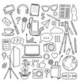 blog object set vector image vector image