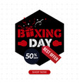 boxing day sale poster best offer poster vector image vector image