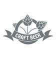 brewery logo simple gray style vector image vector image