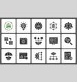 business intelligence icon set vector image