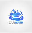 car wash service logo design vector image