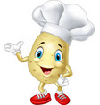 cartoon chef potato waving hand vector image vector image