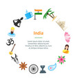 cartoon india banner card circle vector image