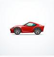 cartoon sport car vector image vector image