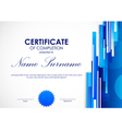 Certificate of completion template vector image vector image