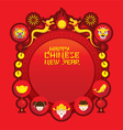 Chinese New Year Icons Label and Frame vector image vector image
