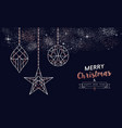 christmas and new year copper line greeting card vector image vector image