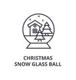 christmas snow glass ball line icon outline sign vector image vector image