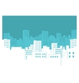 city silhouette background vector image vector image