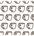 coffee cup seamless pattern cute black and vector image vector image