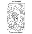 coloring horse vector image