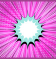 comic book pink background vector image vector image